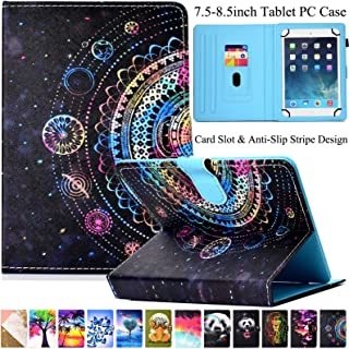Universal 7.5-8.5 inch Tablet Case, Artyond Multi-Angle Stand Case with Cards Slots Magnetic Buckle Cover for iPad Mini,Ki...