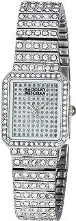 Badgley Mischka Women's BA/1383SVSV Swarovski Crystal Accented Silver-Tone Bracelet Watch