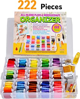 Premium Friendship Bracelet String Kit Embroidery Thread and Accessories - Organizer Storage Box with Embroidery Floss and Cross Stitch Tools – Thread Craft Supplies - Perfect Gift for Girls 7 to 12
