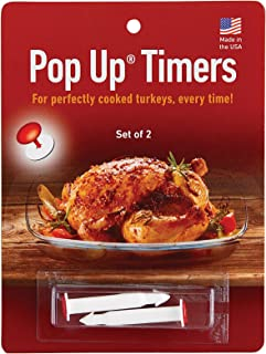 HIC Harold Import Co. 220 HIC Pop-Up Timers for Turkey, Set of 2, Made in America