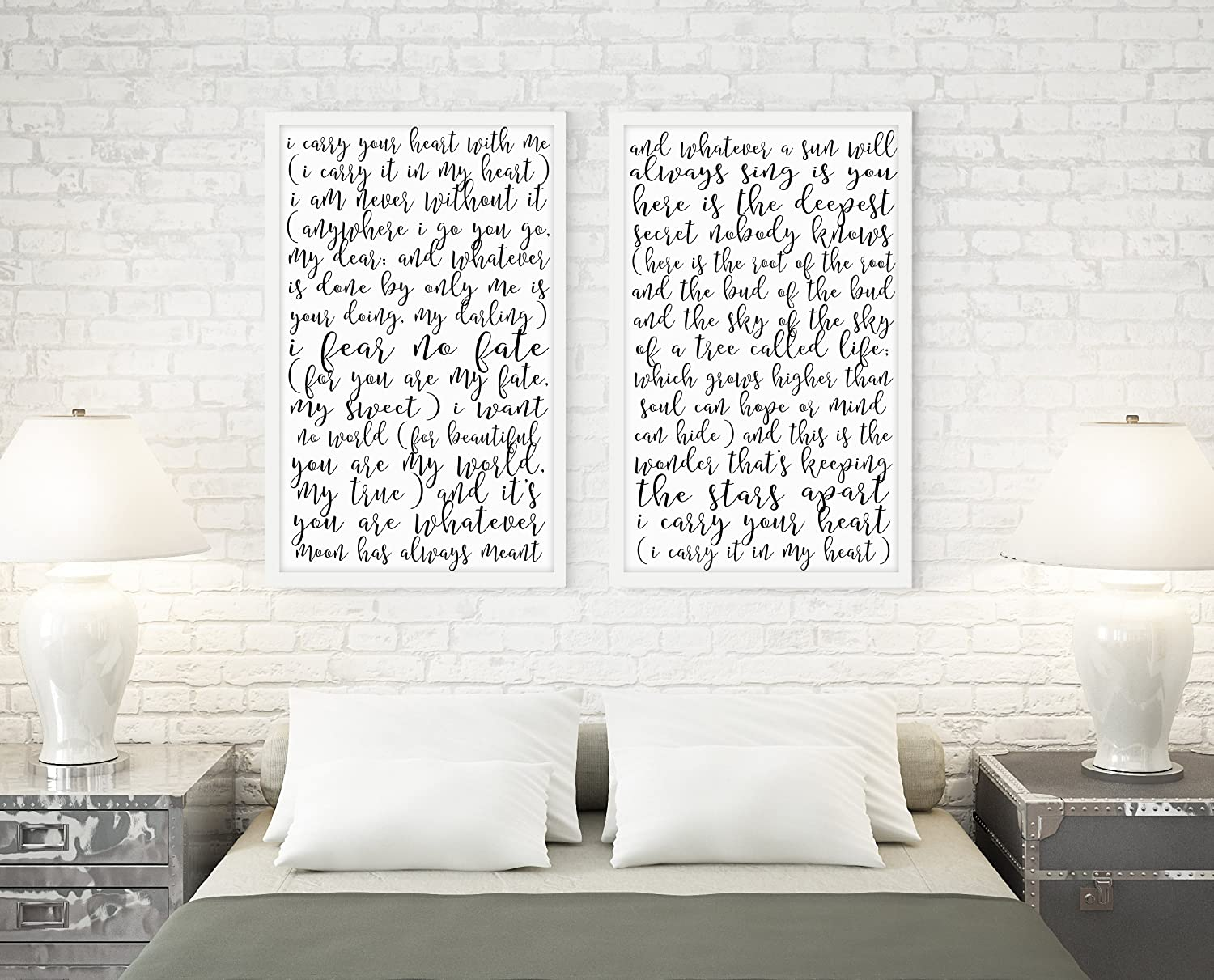 SpecsDecorCo Limited time trial price I Carry Your Heart Poem of Set Artwork Pri 2 Prints Luxury goods