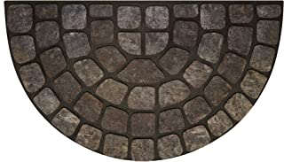 Achim Home Furnishings RRM1830GS6 Grey Stone Slice Raised Rubber Door Mat, 18 by 30