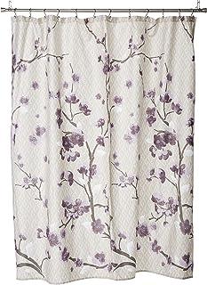Madison Park Holly Cotton Shower Curtain Purple 72x72