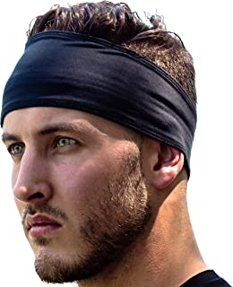 Sports Headbands: UNISEX Design With Inner Grip Strip to Keep Headband Securely in Place | Fits ALL HEAD SIZES | Sweat Wic...