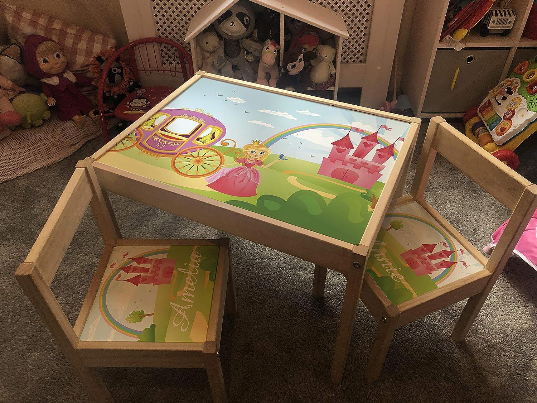 Unicorn Fairytale MakeThisMine Personalised Children/'s Table and 2 Chairs STICKER ONLY Ikea LATT Kids Desk Set Any Name Unicorn Dino Car Rainbow Princess Fairytale Boy Girl Friends