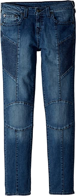 True Religion Kids - Rocco Moto Jeans in Shaded Blue (Big Kids)
