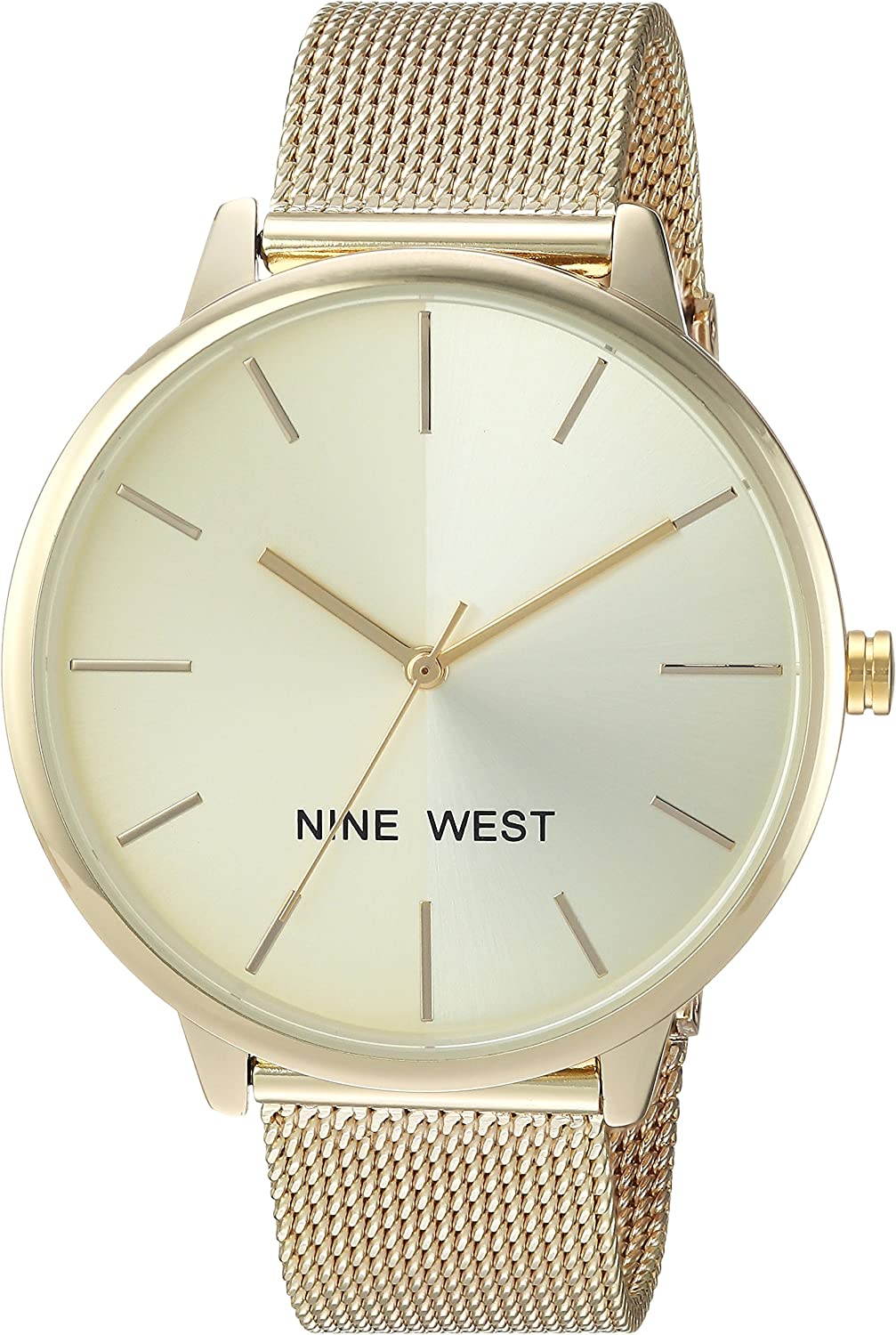 Nine West Women's At the price National uniform free shipping NW 1981 Bracelet Watch Mesh Sunray Dial