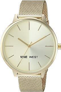 Nine West NW/1981 reloj de pulsera de malla con esfera de rayos de sol para mujer