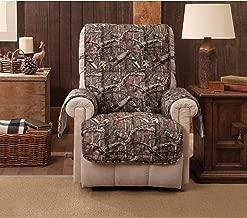 Mossy Oak Break-up Infinity Recliner Slipcover - Wing Chair Brown Wildlife Rustic