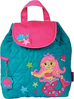 Stephen Joseph Girls Quilted Mermaid Backpack with Activity Pad