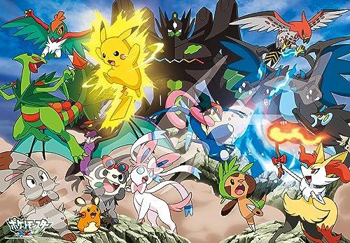 500-piece jigsaw puzzle Pokemon XY & Z violently burning Pokemon Battle  grand piece (51x73.5cm)