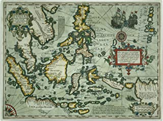 Map of The East Indies 1635, 18 by 24-Inch Canvas Wall Art