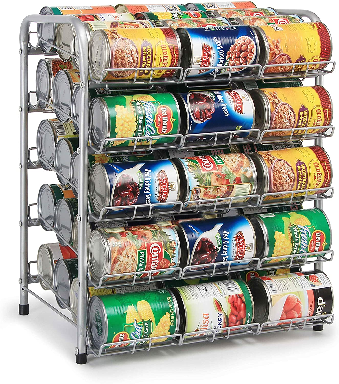 Amazon Com Rice Rat Can Organizer For Pantry Can Rack Can Storage Dispenser For Canned Foods 5 Tier Can Kitchen Dining