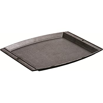 Lodge Seasoned Cast Iron Rectangular Griddle - 15 x 12.25 Inches. Jumbo Chef's Serving Platter