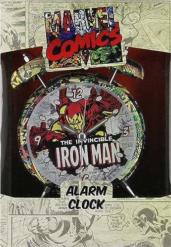 Iron Man - Comic Print Alarm Clock