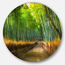Designart Arashiyama Bamboo Grove Japan Forest Large Metal wall Art (Disc of 23), 23 x 23