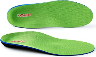 Orthotic Insoles for Flat Feet, Shoe Inserts for Plantar Fasciitis, Foot Pain, Heel Pain and Pronation Relief for Most Mens or Womens Shoes/Boots