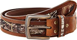 Mossy Oak Camo Double Stitch Belt