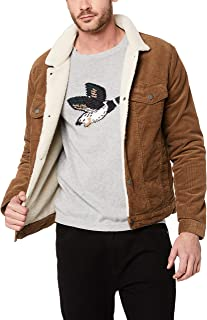 French Connection Men's Cord Sherpa Jacket