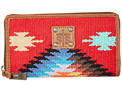 STS Ranchwear Fiesta Serape Bifold Wallet (Royal Blue/Black/Red) Bags