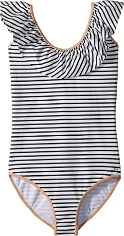 Striped One-Piece Swimsuit (Big Kids)