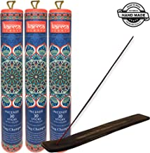 Karma Scents Premium Nag Champa Incense Sticks 3 Set Gift Pack with a Holder in Each Box, 90 Sticks and 3 Incense Burners