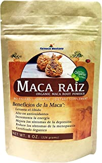 Maca Peruano Certificado Organico en Polvo 8 oz / Certified Organic Peruvian Maca Powder 8 Oz