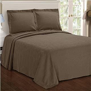 Superior Paisley Jacquard Matelassé 100% Premium Cotton Bedspread with Matching Shams, King, Taupe