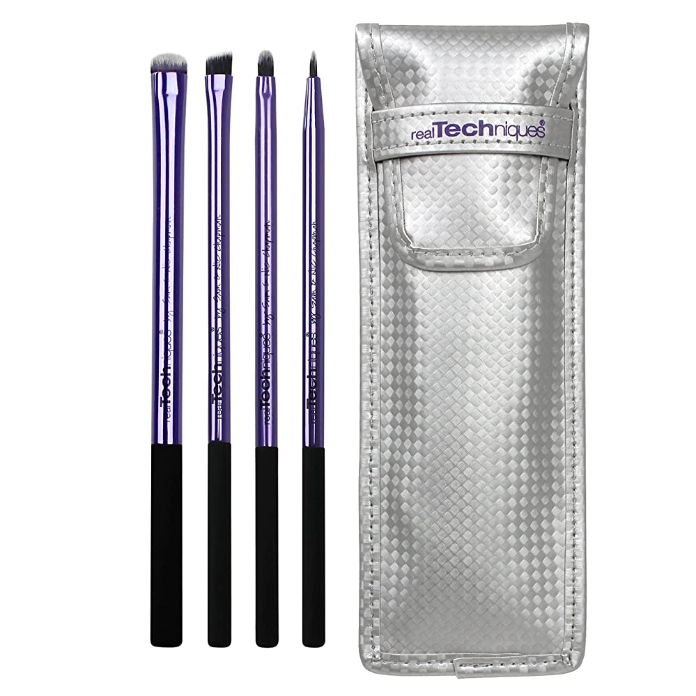 Real Techniques Limited Edition Eyelining Set Plush Synthetic Bristles (並行輸入品)