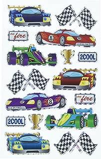 Darice, Stickerz, 16 Piece, Race Car Themed Holographic Stickers
