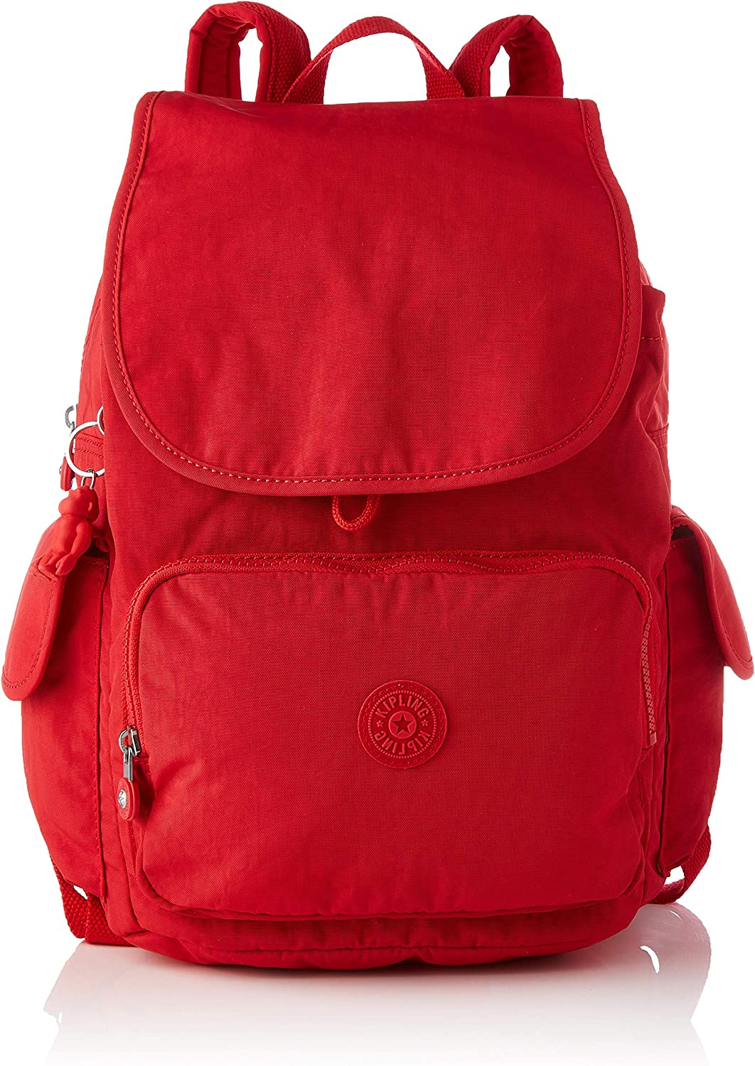 Kipling Women's City Pack service Casual free Size Red One Rouge Daypacks