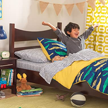 KidKraft Wooden Addison Modern Twin Sized Bed for Children - Espresso, Gift for Ages 4+