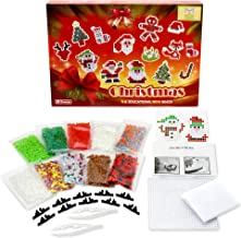 Mira HandCrafts Christmas Ironing Beads Set – Fused Beads Pack – 3000 Christmas Colors Beads - Free Christmas Patterns - Premium Fuse Bead Kit Great Gift!