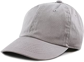 6113d6db615 THE HAT DEPOT Kids Washed Low Profile Cotton and Denim Plain Baseball Cap  Hat
