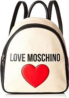 0c91efa6bb871c Love Moschino Borsa Canvas E Pebble Pu, Spalla Donna, (Nero), 11x30x28