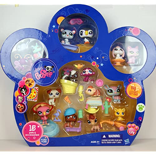 Littlest Pet Shop Exclusive Collector Set of 6 with Horse Hasbro