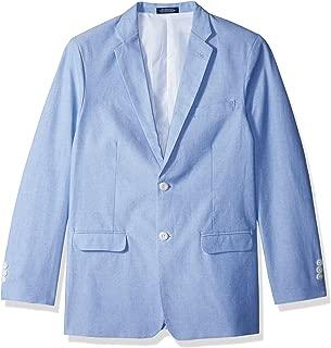 IZOD Boys' Big Blazer Suit Jacket, Oxford Medium Blue, 18