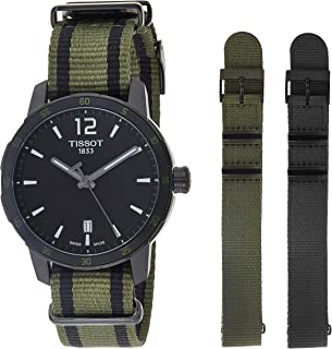 Tissot Quickster Men's Black Dial Fabric Band Watch - T0954103705700