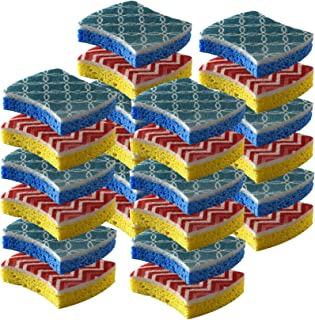 Cleaning Scrub Sponge by Scrub-it - Non-Scratch - Printed Scrubbing Dish Sponges