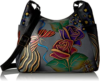 Handpainted Large Multi Pocket Hobo