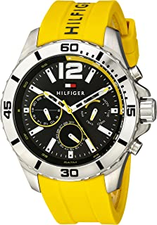 Tommy Hilfiger Men's Gray Dial Silicone Band Watch - 1791144