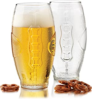 Libbey 23-Ounce Football Tumbler Beer Glass Set, 4-Piece