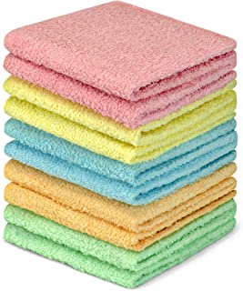(10 Pack, Assorted) - DecorRack 100% Cotton Wash Cloth, Luxurious Soft, 30cm x 30cm Ultra Absorbent, Machine Washable Wash...