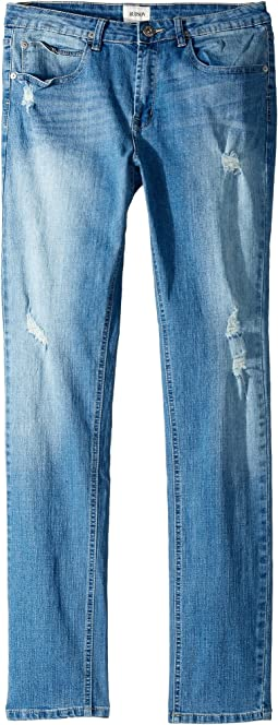 Hudson Kids - Jude OG Skinny Five-Pocket Jeans in Stone Wash (Big Kids)