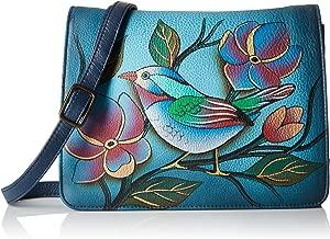 Anna by Anuschka Women's Genuine Leather Small Flap-Over Handbag | Cross Body Organizer