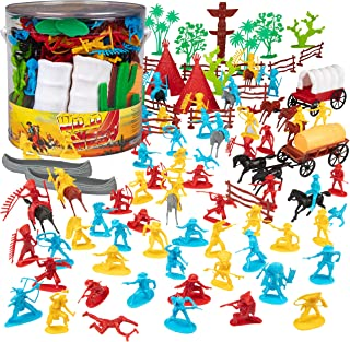 Cowboys & Indians Figure Playset (108pcs/Tub) 1-32 by Unknown