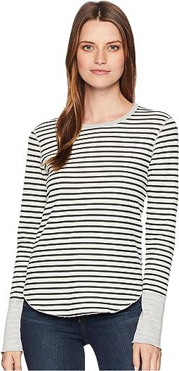 Cozy Stripe Long Sleeve Top