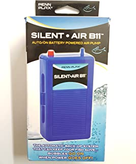 Penn Plax Silent Air B11 Battery Operated Aquarium Air Pump For Power Outage Automatic Turn On Keeps Fish Safe