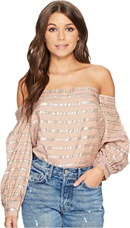 1.STATE - Off Shoulder Voluminous Sleeve Blouse