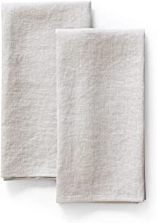 LK PureLife 100% Pure Flax Linen Kitchen Towels- Stonewashed Flax Linen-Extra Soft Quick Dry for Tea Towels Dish Towels Ha...
